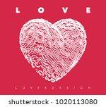 image of hearts.minimal design... | Shutterstock .eps vector #1020113080