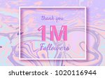 1m followers thank you... | Shutterstock .eps vector #1020116944