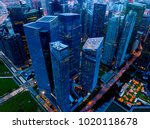 aerial view of singapore down... | Shutterstock . vector #1020118678