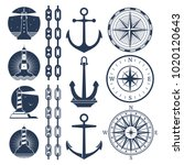 Nautical Logos And Elements Se...