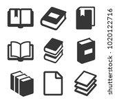 book icons set on white... | Shutterstock .eps vector #1020122716