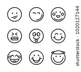 icons emoticons. vector smile ... | Shutterstock .eps vector #1020127144