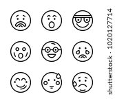 icons emoticons. vector... | Shutterstock .eps vector #1020127714
