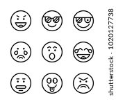 icons emoticons. vector... | Shutterstock .eps vector #1020127738
