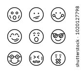 icons emoticons. vector cool ... | Shutterstock .eps vector #1020127798