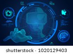 concept of virtual reality...   Shutterstock .eps vector #1020129403