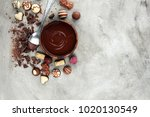 a lot of variety chocolate... | Shutterstock . vector #1020130549