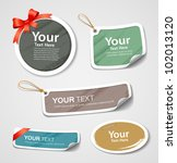 colorful collection label and... | Shutterstock .eps vector #102013120