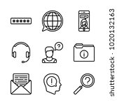 icons customer service. vector... | Shutterstock .eps vector #1020132163