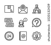 icons customer service. vector... | Shutterstock .eps vector #1020132439