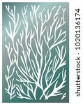 vector laser cut panel. pattern ... | Shutterstock .eps vector #1020136174