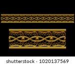 golden  ornamental segment  ...   Shutterstock . vector #1020137569