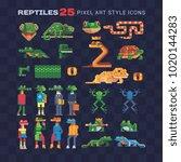 reptile tropical animal pixel...   Shutterstock .eps vector #1020144283