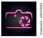 photography icon vector logo... | Shutterstock .eps vector #1020145003