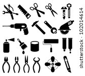 hand tools   set of vector...