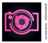 photography icon vector logo... | Shutterstock .eps vector #1020146830