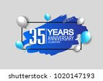 35 years anniversary...   Shutterstock .eps vector #1020147193