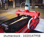 3d printer that printing a...   Shutterstock . vector #1020147958