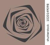 rose. vector flower. beautiful...   Shutterstock .eps vector #1020149098