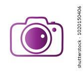 photography icon vector logo... | Shutterstock .eps vector #1020150406