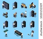 information technology engineer ... | Shutterstock .eps vector #1020152329