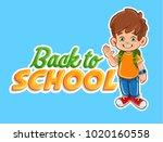 kid illustration for school... | Shutterstock .eps vector #1020160558