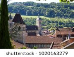 view over the quaint rooftops... | Shutterstock . vector #1020163279