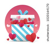 valentines day background. a... | Shutterstock .eps vector #1020164170