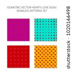 isometric hearts seamless... | Shutterstock .eps vector #1020166498