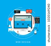 website development concept... | Shutterstock .eps vector #1020169240