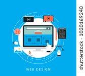 website development concept... | Shutterstock .eps vector #1020169240