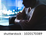 thoughtful  pensive and... | Shutterstock . vector #1020170389