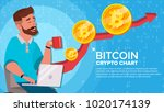 bitcoin up trend  growth... | Shutterstock .eps vector #1020174139