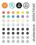 horoscope  astrology ... | Shutterstock .eps vector #1020174160
