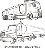 transport by truck   lorry... | Shutterstock .eps vector #102017518
