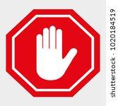 sign stop  road sign... | Shutterstock .eps vector #1020184519