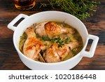 chicken drumsticks baked with... | Shutterstock . vector #1020186448