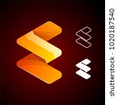 vector abstract letter e logo...   Shutterstock .eps vector #1020187540