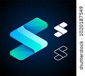 vector abstract letter s logo... | Shutterstock .eps vector #1020187549