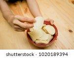crispy potato chips   Shutterstock . vector #1020189394