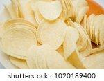 crispy potato chips   Shutterstock . vector #1020189400