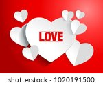 valentine's day abstract... | Shutterstock .eps vector #1020191500