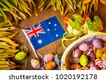 easter holiday in australia.... | Shutterstock . vector #1020192178