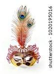 carnival mask on a white...   Shutterstock . vector #1020195016