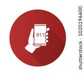 emergency calling flat design... | Shutterstock . vector #1020196600