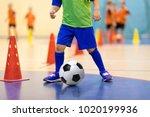 football futsal training for... | Shutterstock . vector #1020199936