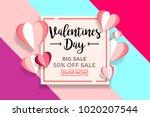 valentines day sale background... | Shutterstock .eps vector #1020207544
