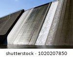 white water overspill run off... | Shutterstock . vector #1020207850