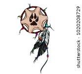 native american dreamcatcher... | Shutterstock .eps vector #1020208729