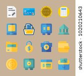 icons banking with folder ... | Shutterstock .eps vector #1020210643